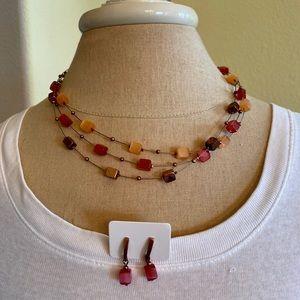 Beautiful necklace & earring set
